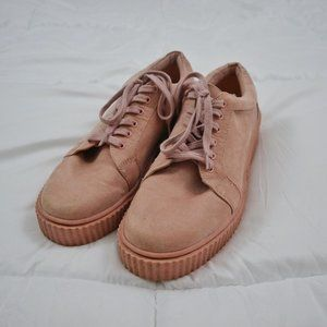 JUST FAB Dusty Pink Sneakers Size 11